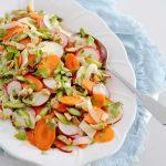 Recette de salade de légumes de printemps rasée