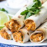 Recette de Taquitos au poulet au fromage à la crème au four