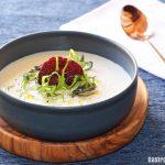 Recette ajoblanco de betteraves blanches, surprenez vos convives avec une soupe froide délicieuse et originale