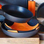 Coffre-fort polyvalent 3 en 1, protège-casserole, mitaine et dessous de plat en silicone