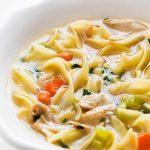 Recette de soupe maison poulet et nouilles