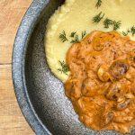 Champignon végétalien stroganoff    Recettes de ragoût copieux