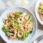 Zoodles aux crevettes et spaghettis au piment et au citron |  Recettes de pâtes saines