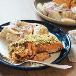 Recette de Saumon pané au panko et salade de pommes de terre crémeuse