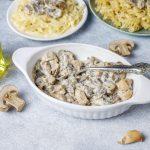 Poulet crémeux aux champignons: recette rapide - Feeder
