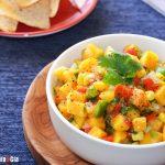 Salsa à la papaye, coriandre et citron vert, une recette à la mexicaine pour de délicieux apéritifs