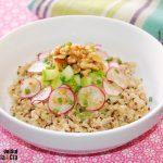 Quinoa à la courgette et aux noix