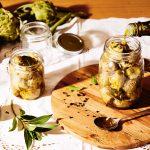 Artichauts Globe à l'huile |  Recettes italiennes