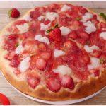 »Pizza aux fraises sucrée